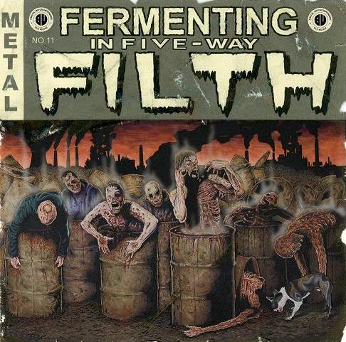 VA – Fermenting In Five- Way Filth – split (2009)
