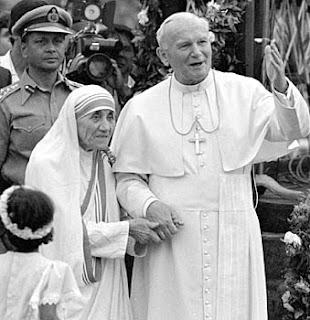 Juan Pablo II y Madre Teresa