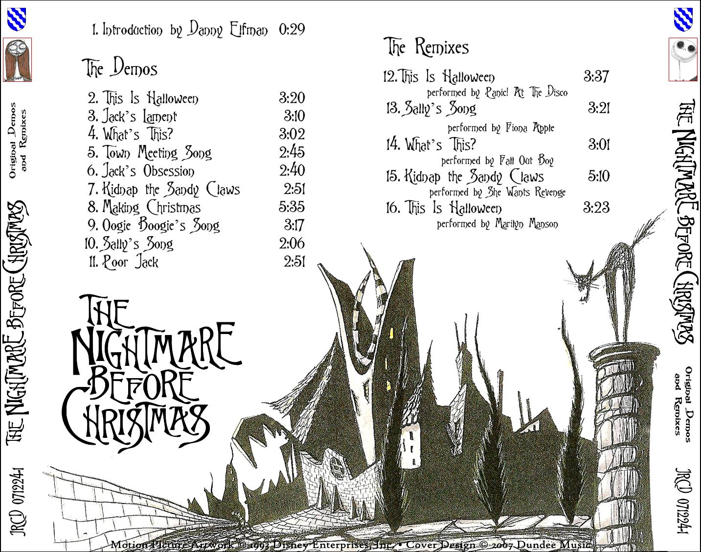 LE BLOG DE CHIEF DUNDEE: THE NIGHTMARE BEFORE CHRISTMAS Original ...