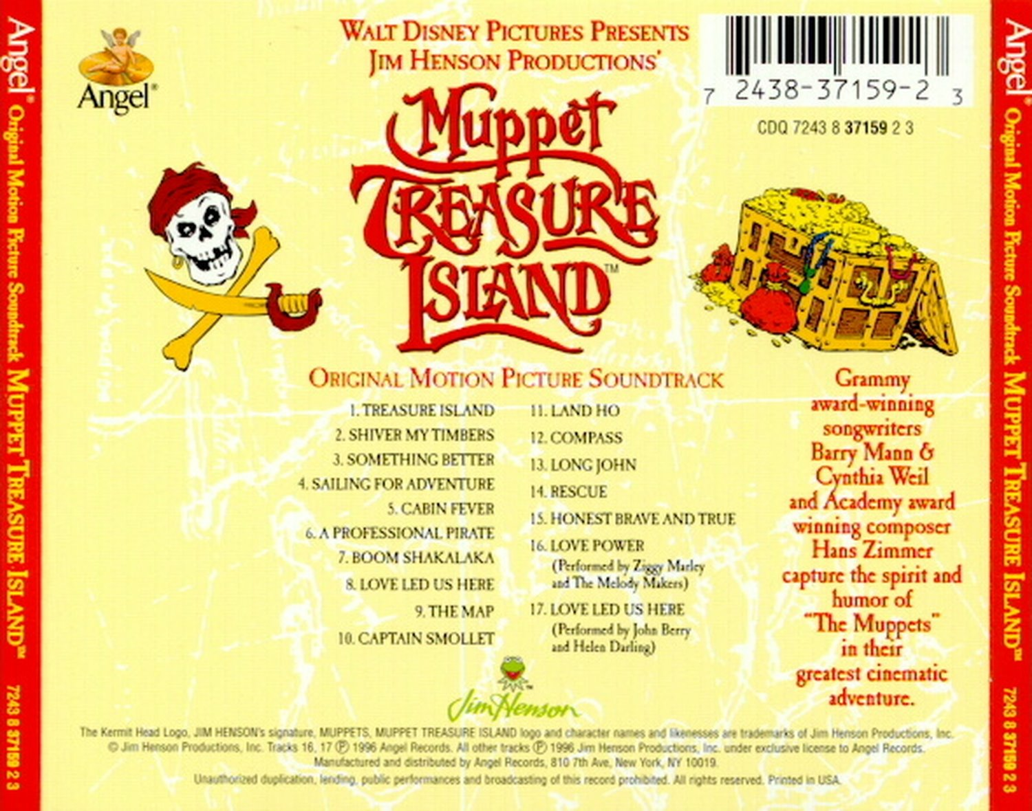 The Muppets Muppet Treasure Island Songs