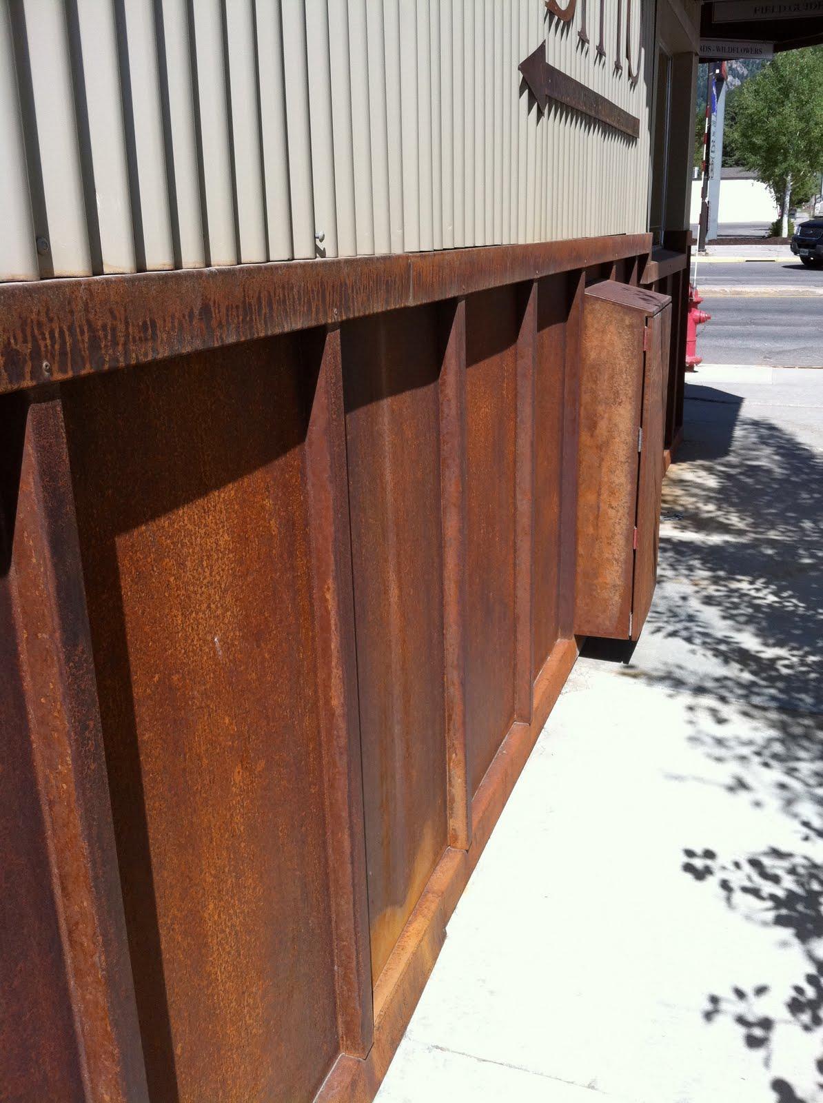 Design Dump Metal Wainscoting Awning