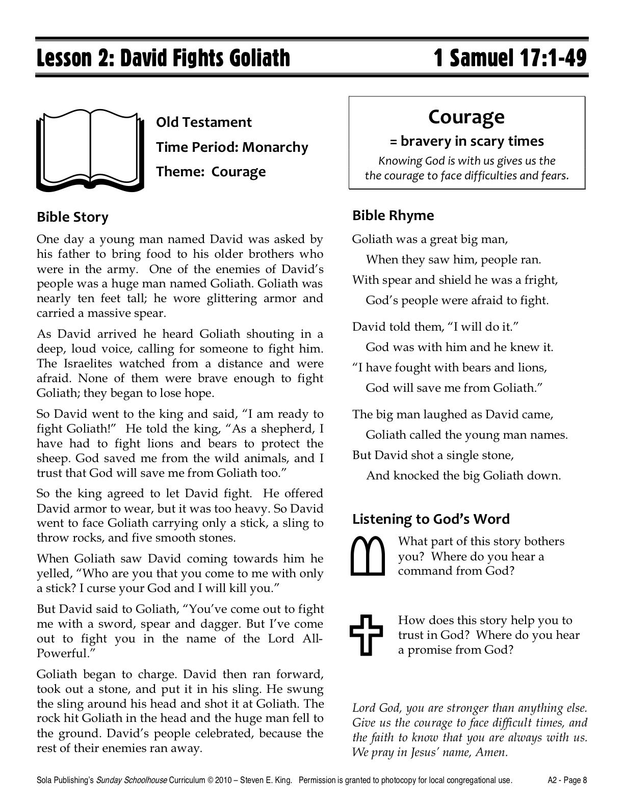 Sola Sunday School Archive November