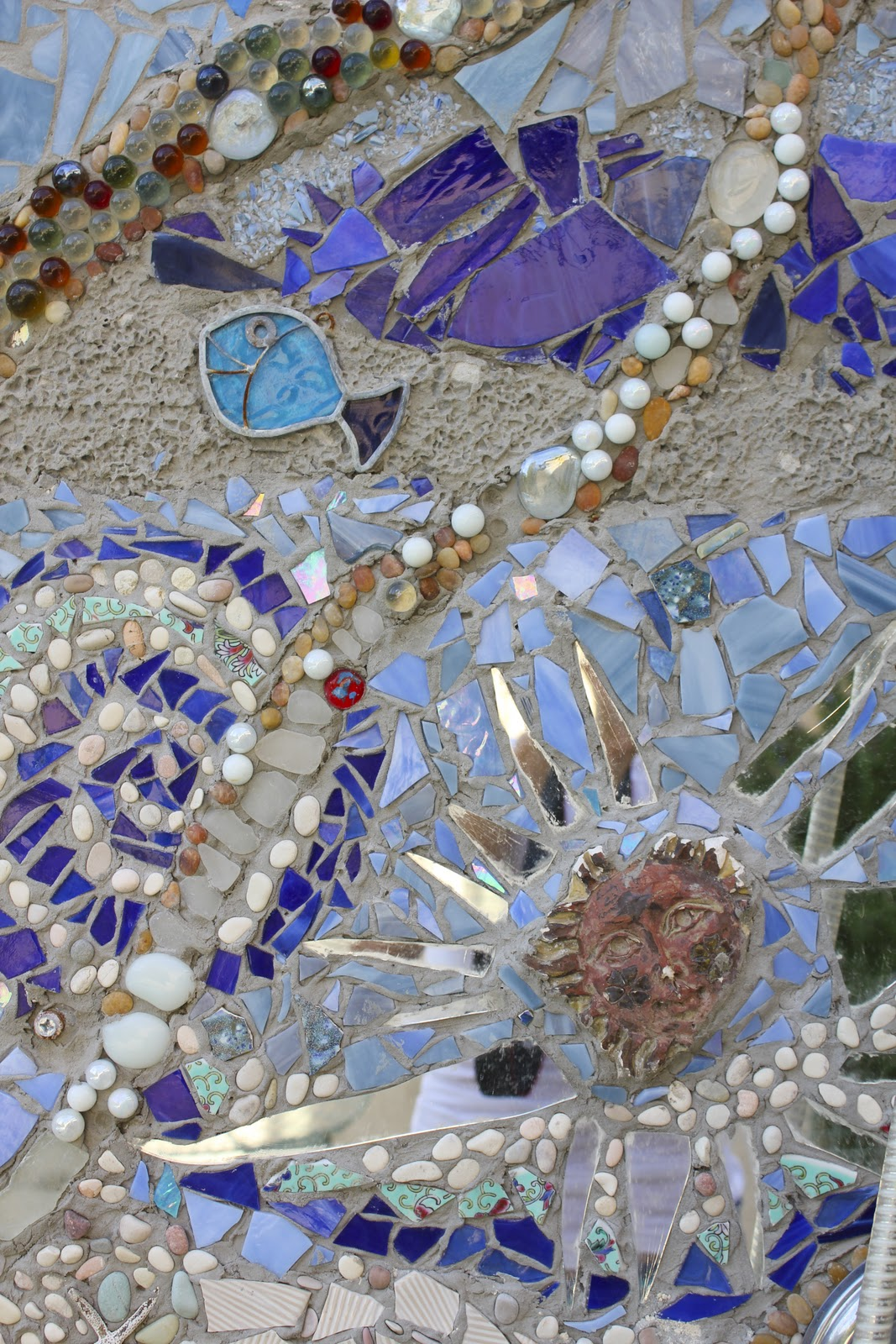 My Diy Outdoor Mosaic Shower Laguna Dirt