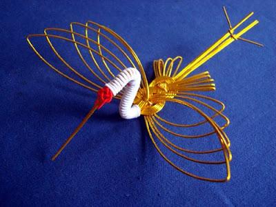 Mizuhiki-zaiku decorative paper cords