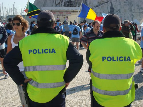 Police in Lisbon
