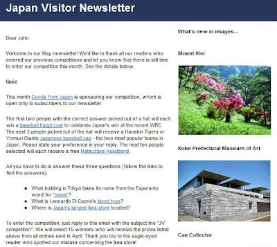 Japan Visitor May Newsletter