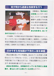 LDP election pamphlet about liberal sex education.