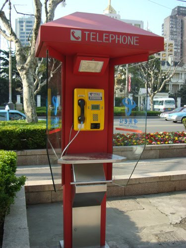 Public phone in China