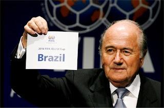 Joseph Blatter, presidente da Fifa, anuncia Copa de 2014 no Brasil
