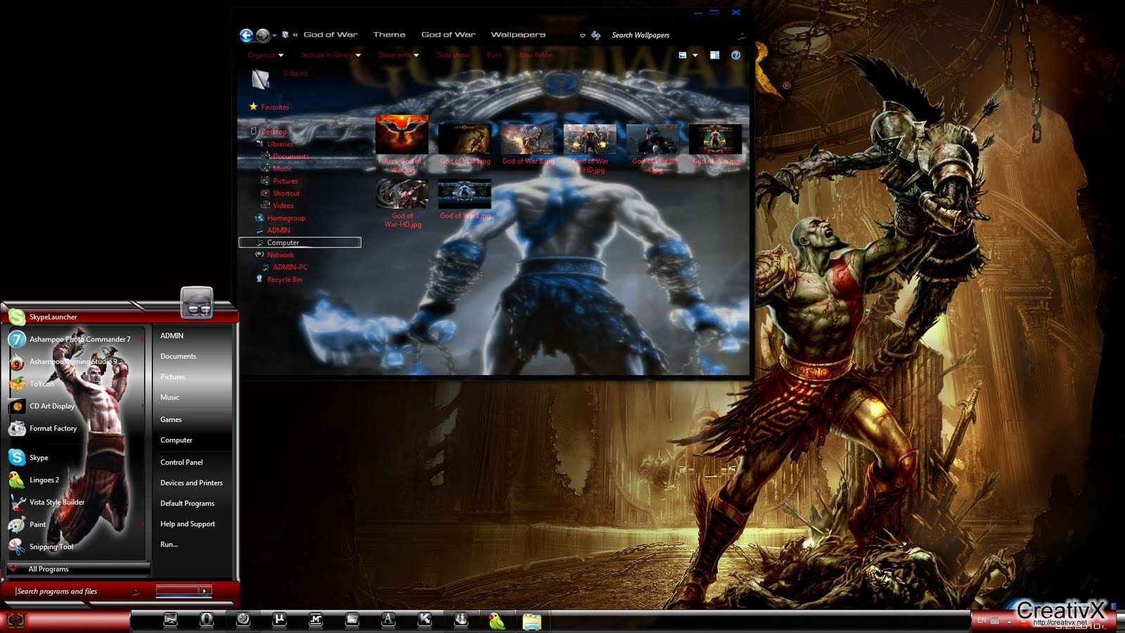 All themes for windows 7: God of War - theme for windows 7