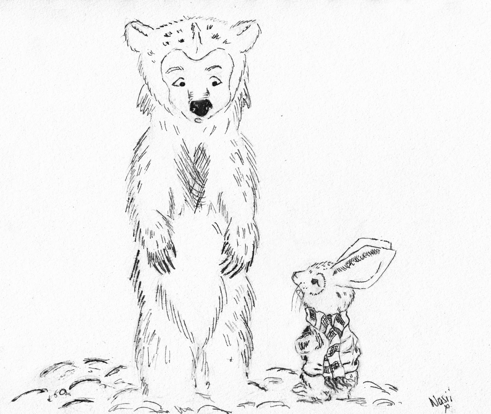 Itching Illustrator: The Bear and The Bunny ;)