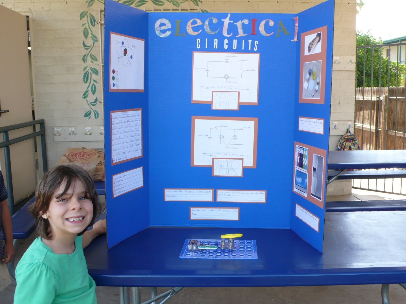 Her 2nd Grade Science Fair Her Board Is Titled Quotelectrical Circuits