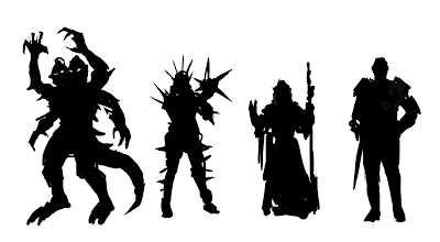 silhouette character design