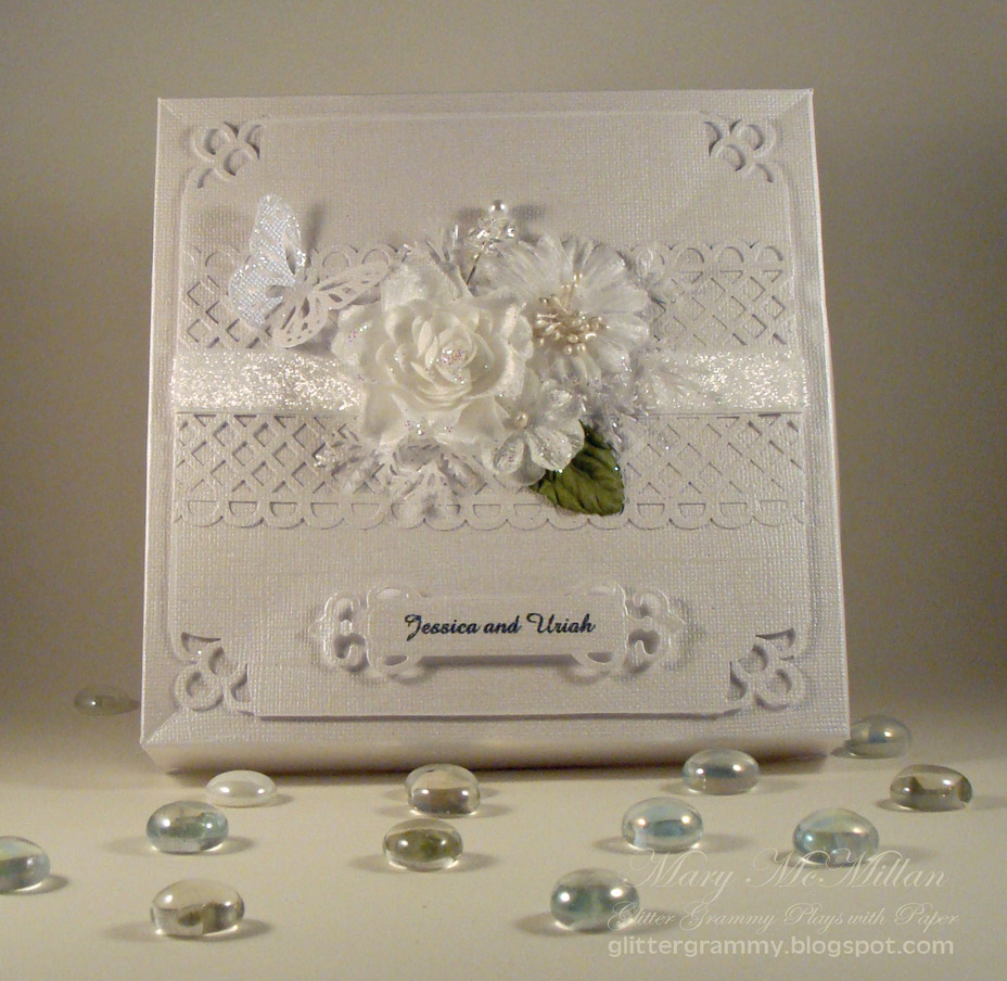Wedding Cards Ideas To Make: Glitter Grammy Plays With Paper: Jessica And Uriah's