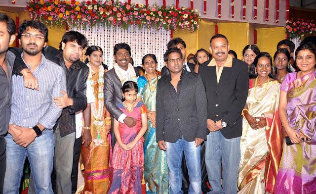 Vasanth Vijay wedding reception stills 9