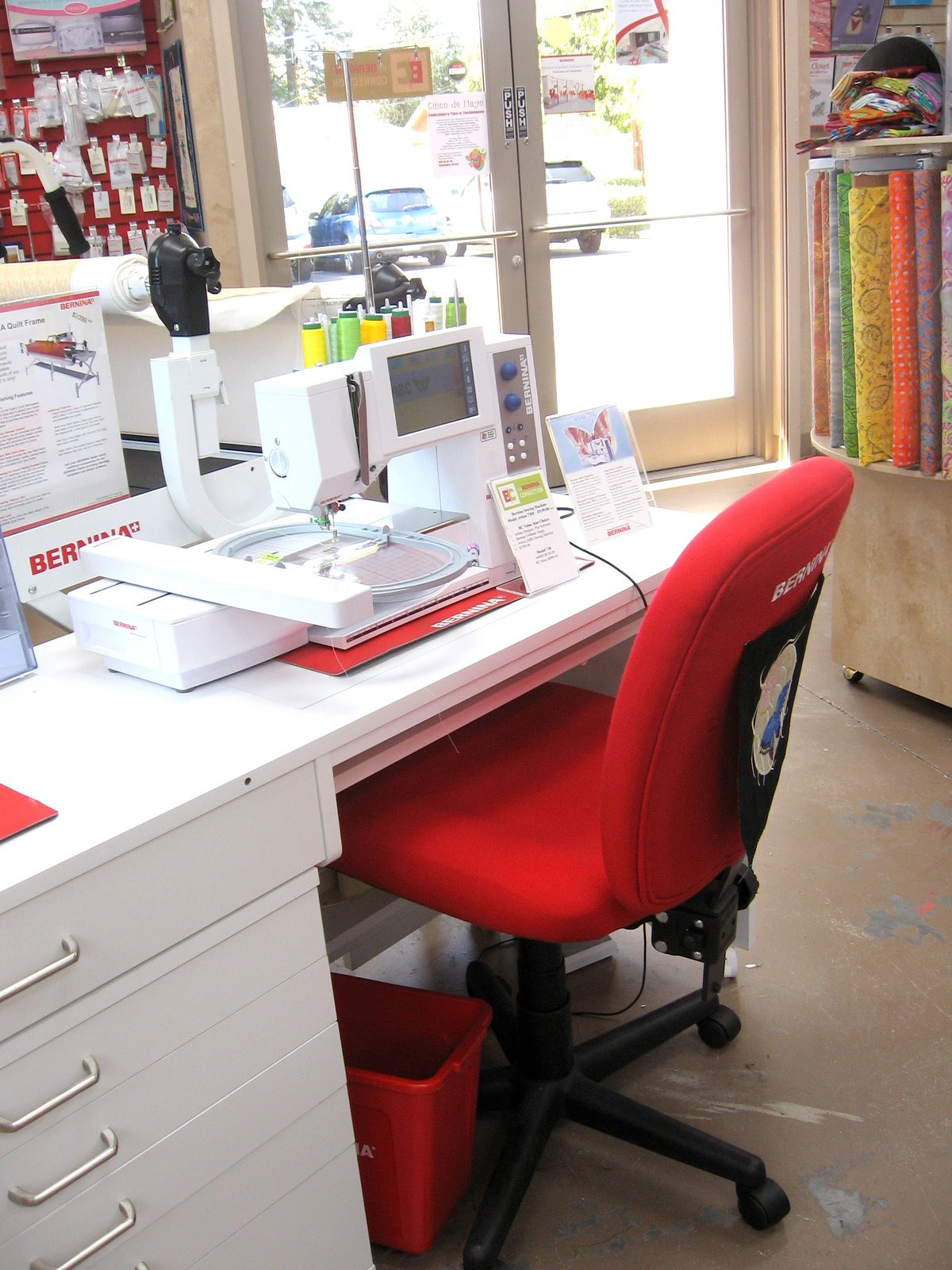 Seriously What Sewing Room Studio Would Not Be Enhanced By The Look And Comfort Of One Our Bernina Red Chairs Instant Energy I Tell You