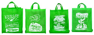 SM Green Shopping Bag
