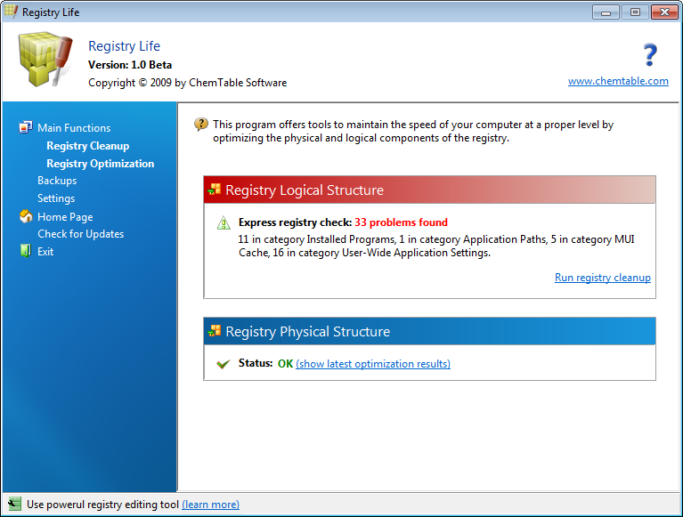 Off topic : Registry Life (Obtimizar y deframentar  registro de  Windows)