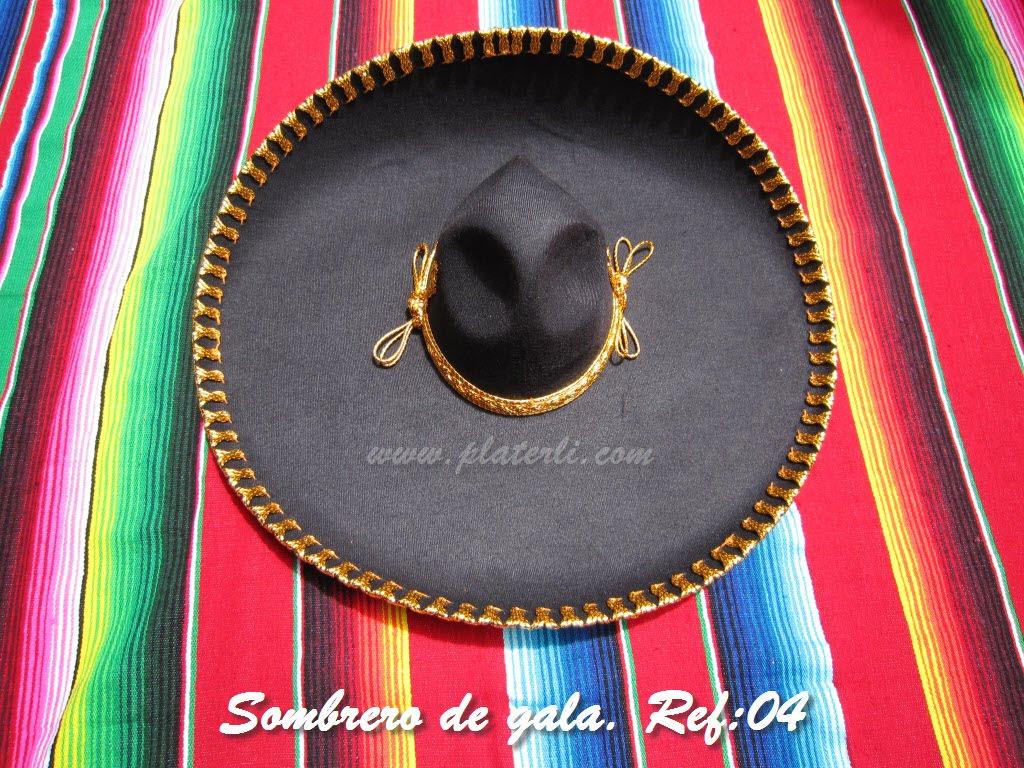 Sombreros Mexicanos  Sombrero de charro de fieltro cencillo. 40€ d1b2c55dbe3