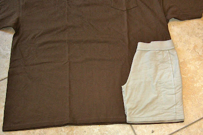 shorts laid over tshirt