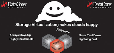 Stop by and Visit DataCore Booth at VMworld ; DataCore Storage Virtualisation Software Makes Clouds Happy