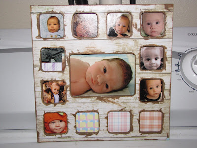 Shes Crafty 12 Months Baby Picture Frame