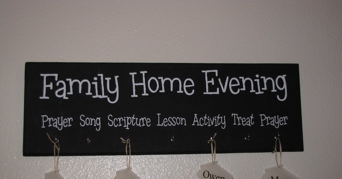 Family Home Evening Board Craft