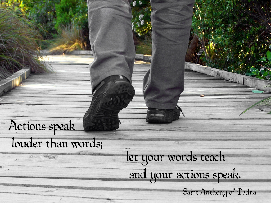 US Liberty Journal: ACTIONS SPEAK LOUDER THAN WORDS, MR