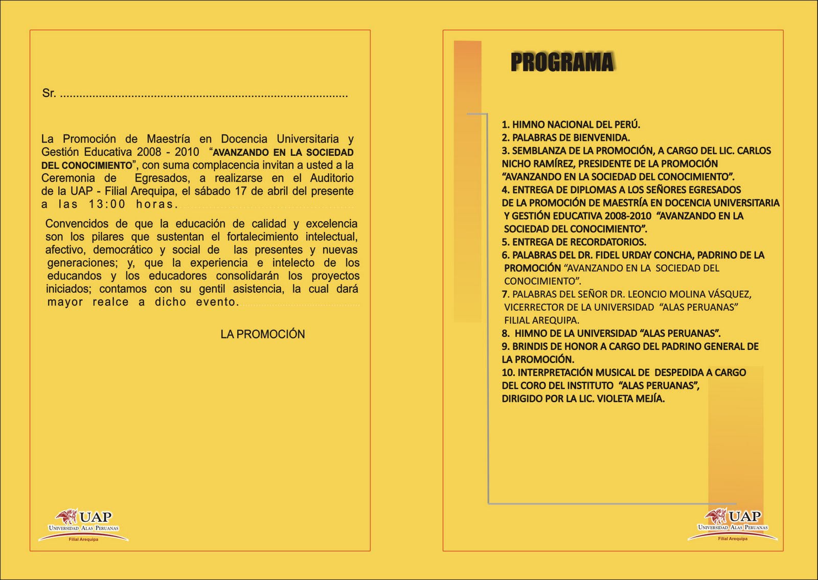 Blog De Karlitos Modelo De Tarjeta De Invitacion