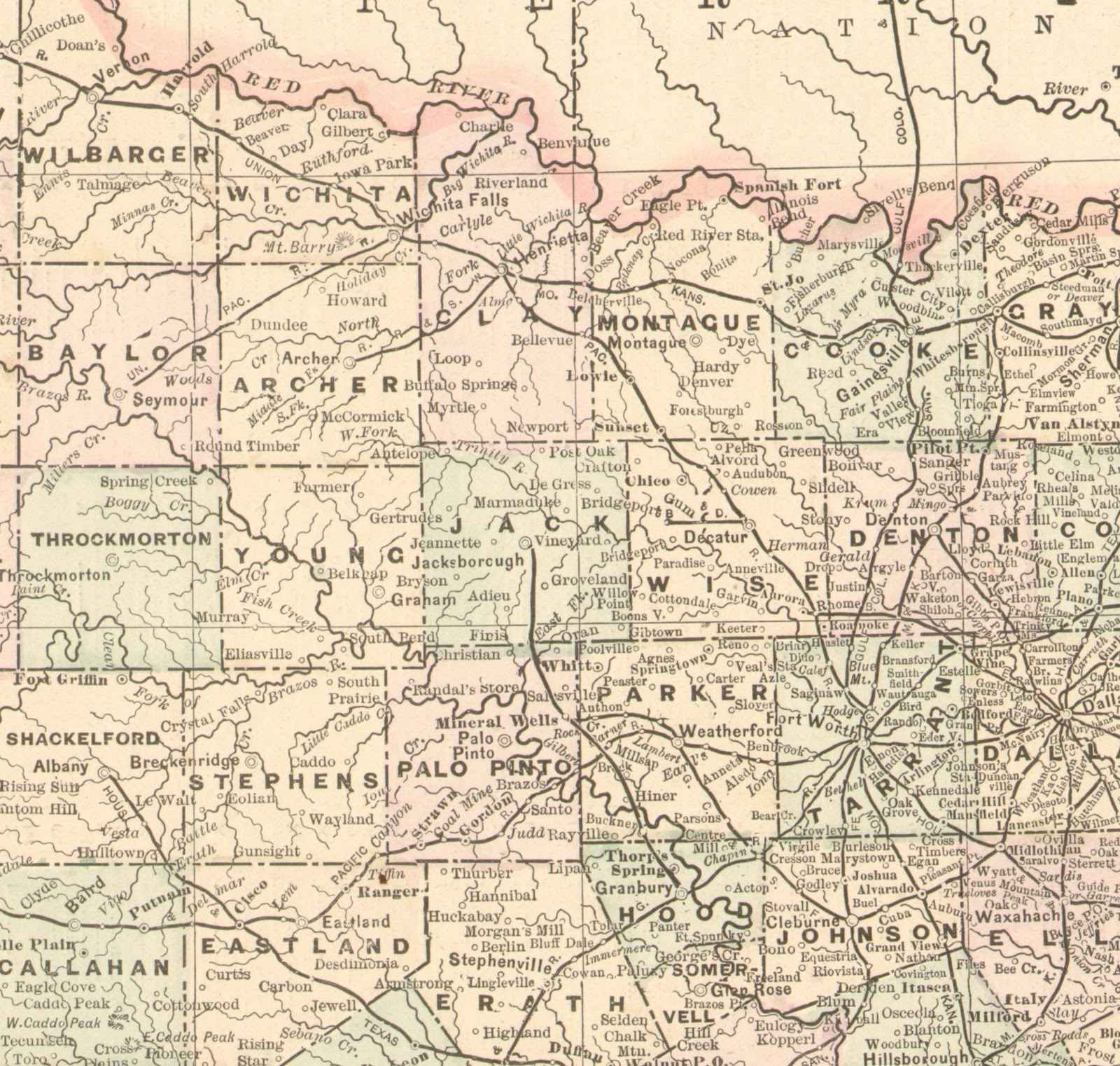Map Of North Texas Towns.The Fort Worth Gazette Lost North Texas Ghost Towns Places On