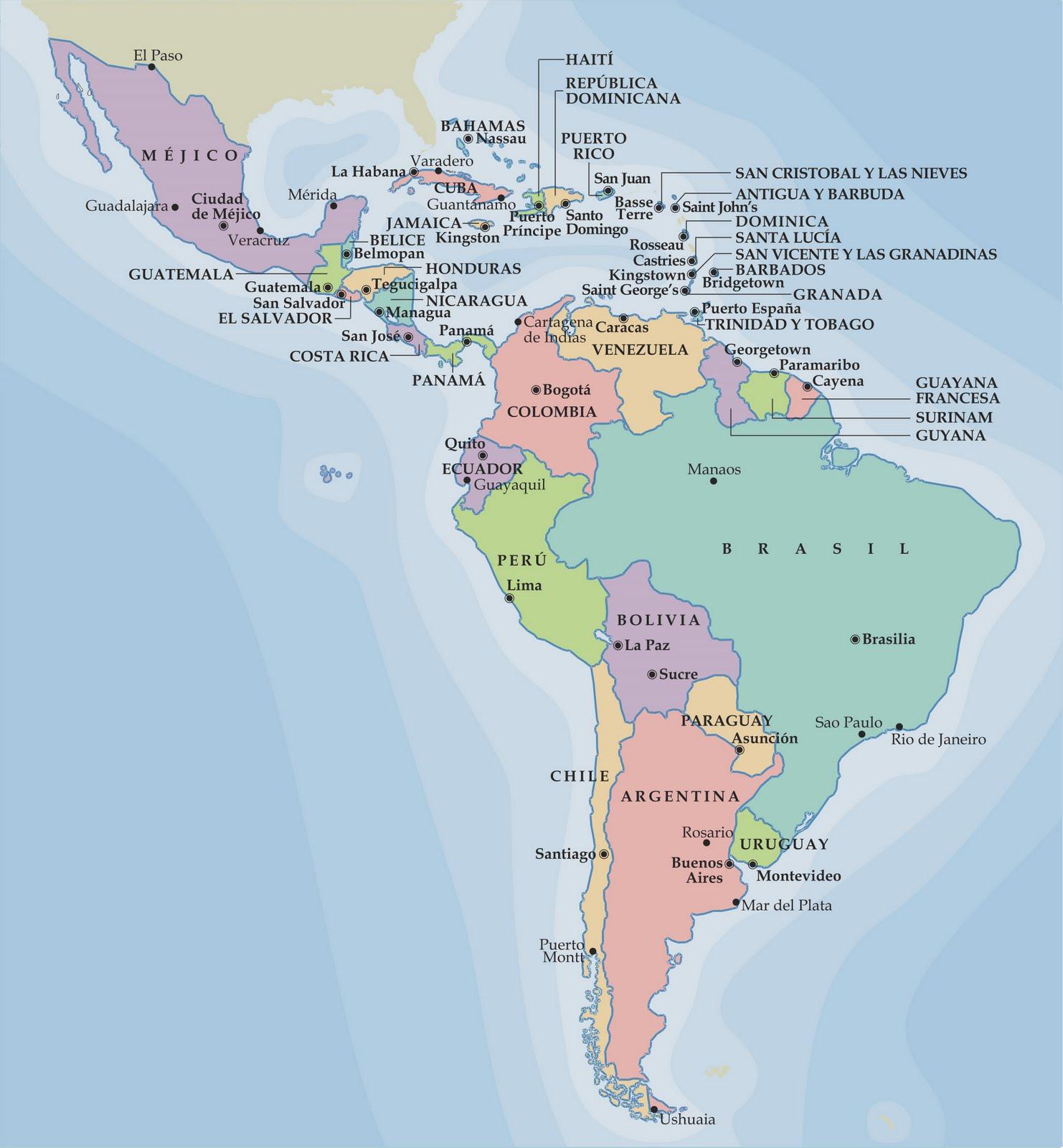 Mapa Interactivo America Capitales.Kappo Sfera Mapa Interactivo De America