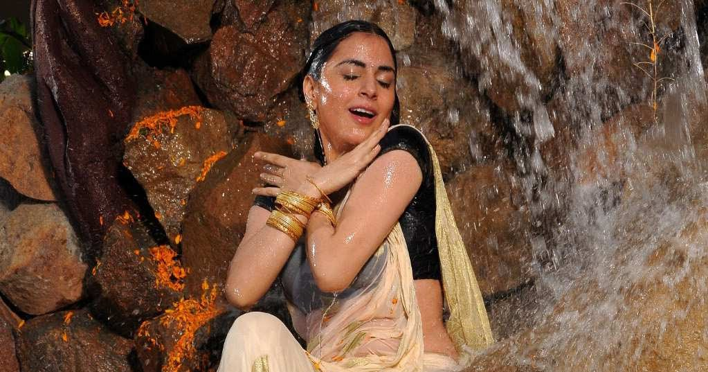 Shraddha Arya Hot Navel Show: Cinesizzlers: Shraddha Arya In Wet Saree-photos Gallery