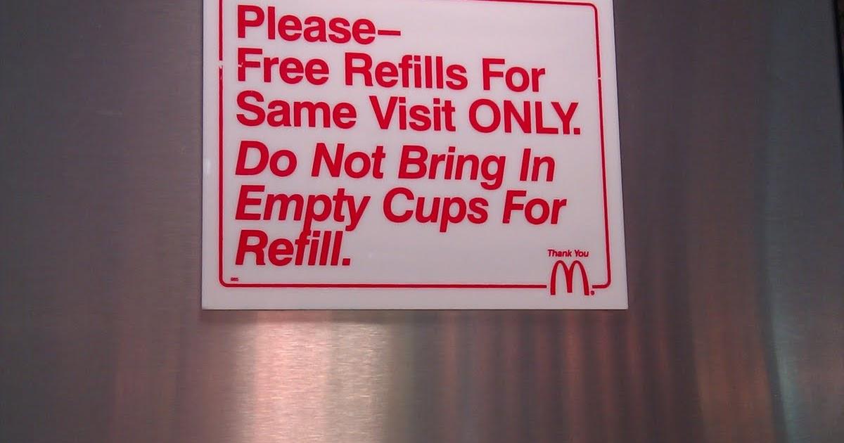 Free Refills @ McDonald\'s - Same Visit Only