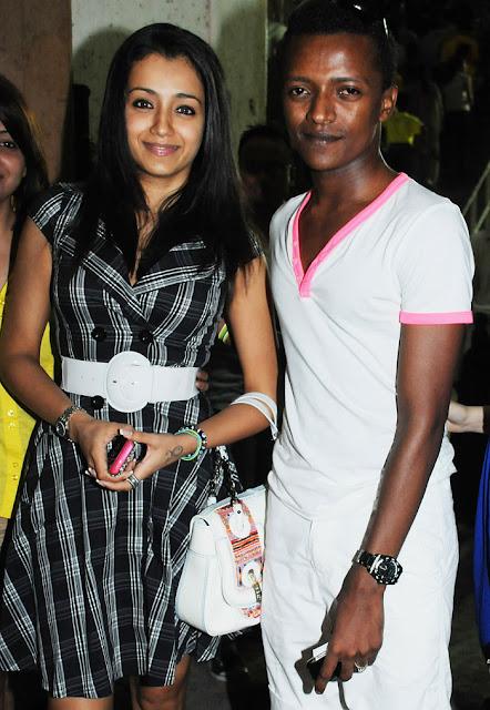Actor Trisha Krishnan and costume designer Sidney Sladen