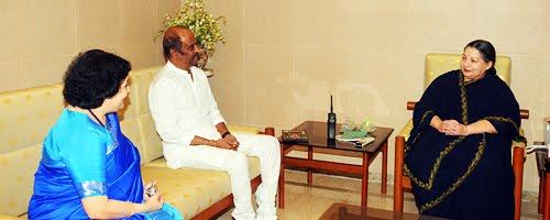 Rajini Invites Jayalalitha