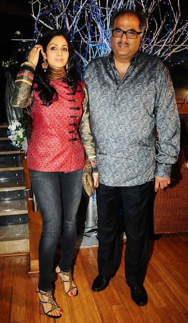 Sridevi-Boney Kapooor-Prakash Raj Pony Verma Wedding Reception Stills