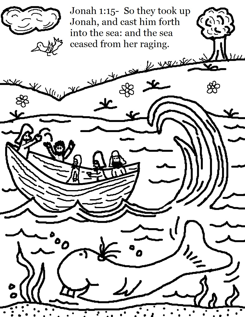 Church House Collection Blog: Jonah and The Whale Coloring Pages