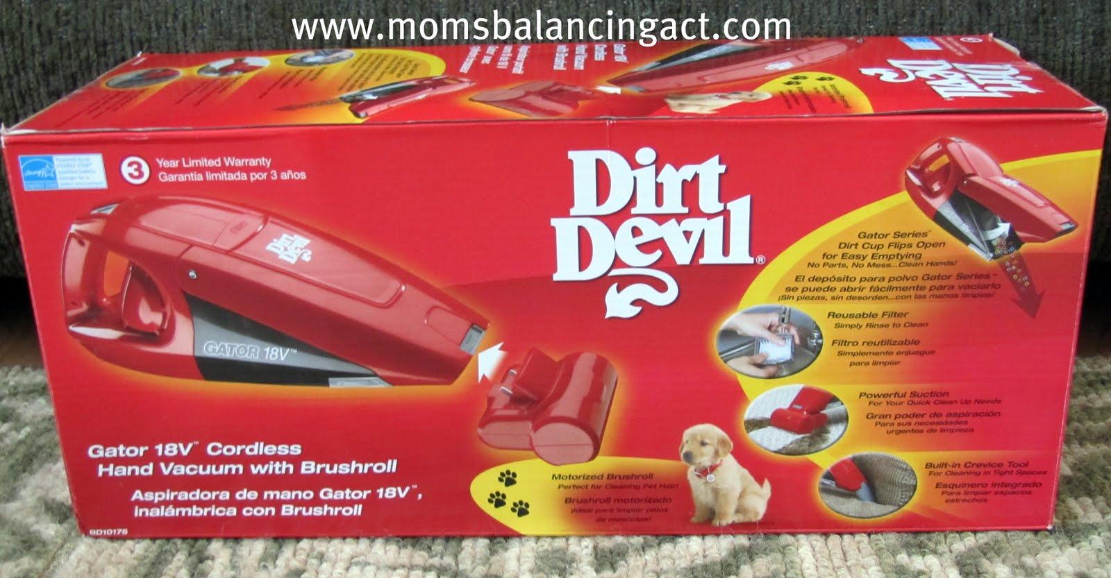 checking our list dirt devil gator 18v cordless hand vacuum with brushroll review. Black Bedroom Furniture Sets. Home Design Ideas