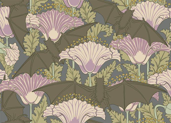 Haunt style bat and demon wallpaper - Bat and poppy wallpaper ...