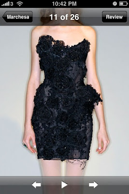 f72720346be7 For a posh night on the town for a girly girl, this Marchesa lace dress is  sophisticated and flattering.