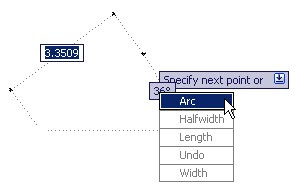 AutoCAD dynamic input