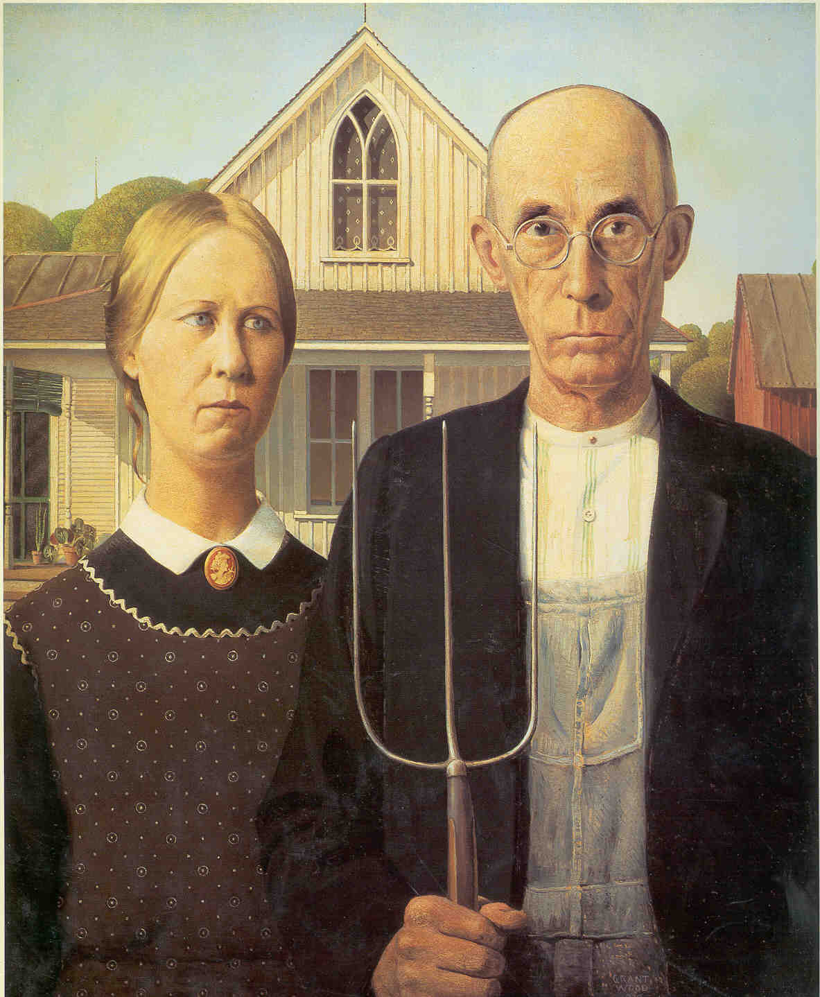Famous Painting American Gothic