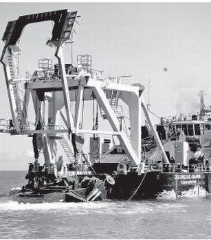 Image result for dredger machine in ram setu breaks