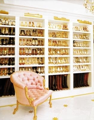 I believe this is Mariah Carey's shoe closet. . .