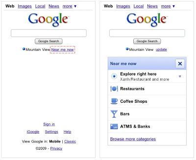 Búsquedas por cercanía para móviles en Google