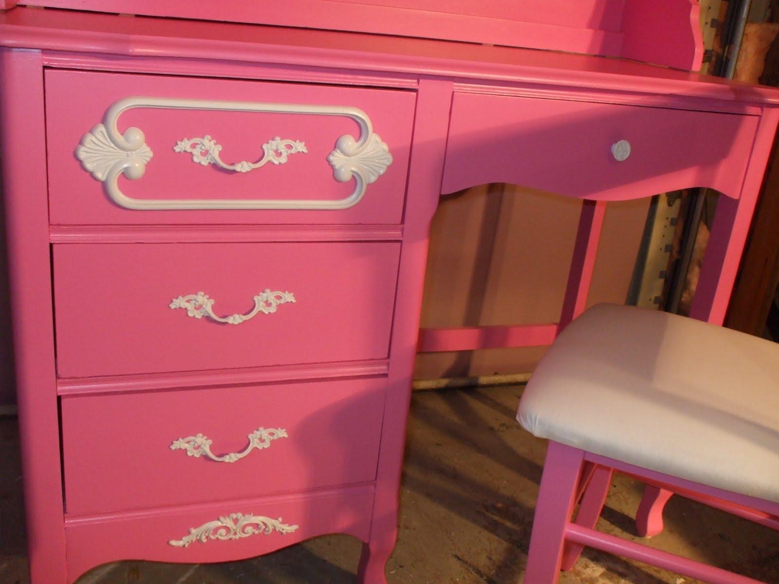hot pink office chair ki strive old wood new paint vintage girls desk