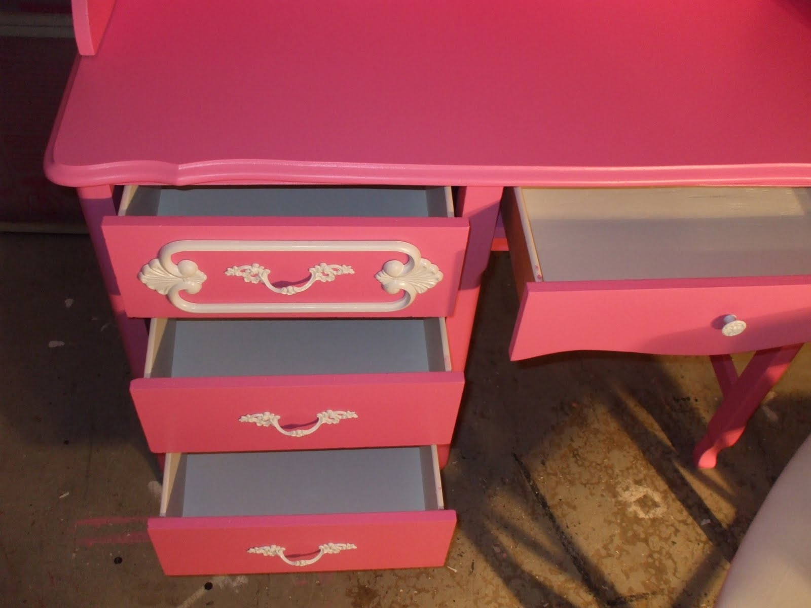 Hot Pink Office Chair For Sale Old Wood New Paint Vintage Girls Desk