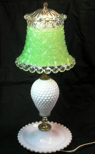For Old Time S Sake Vintage Hobnail Glass Bedside Lamp