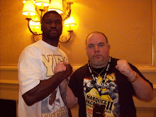 Cooney with heavyweight contender Ray Austin