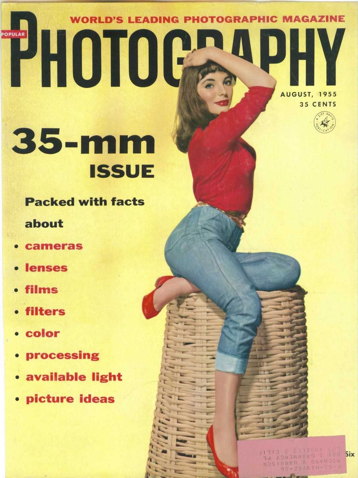 LEGENDARY DAME!: ON THE COVER : POPULAR PHOTOGRAPHY ... 1955